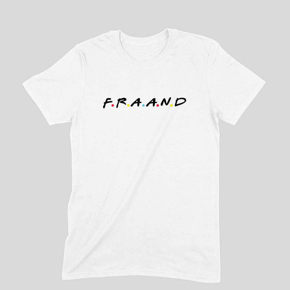 F.R.A.A.N.D T-shirt (Black Text) - Unisex - Madras Merch Market