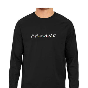 F.R.A.A.N.D Full Sleeve T-shirt (White Text) - Unisex - Madras Merch Market