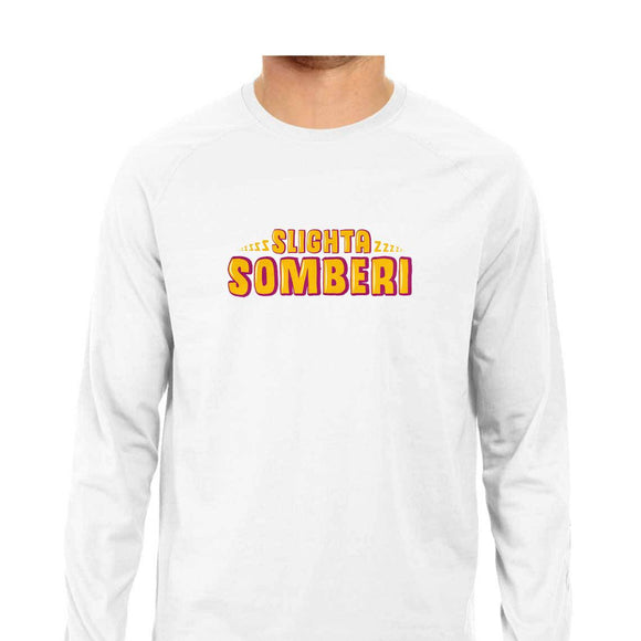 Slighta Somberi Full Sleeve T-shirt (Yellow Text) - Unisex - Madras Merch Market