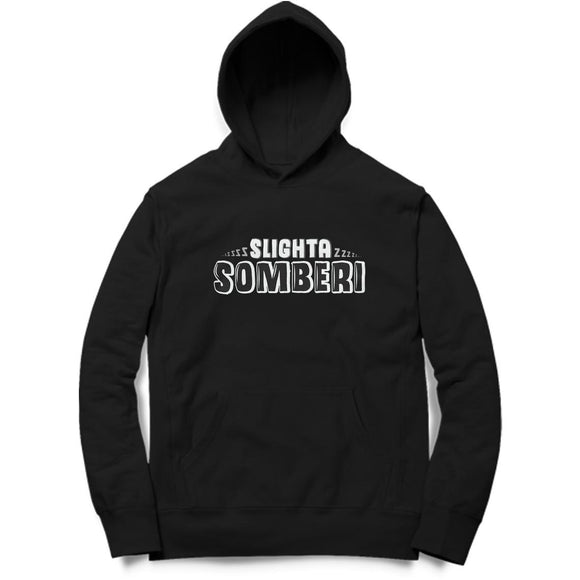 Slighta Somberi Hoodie (White Text) - Unisex - Madras Merch Market