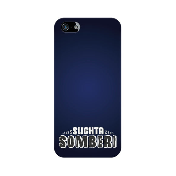 Slighta Somberi Phone Cover (White Text) (Apple, Samsung, Vivo and OnePlus) - Madras Merch Market