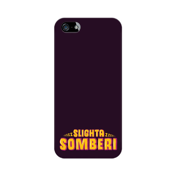 Slighta Somberi Phone Cover (Yellow Text) (Apple, Samsung, Vivo and OnePlus) - Madras Merch Market