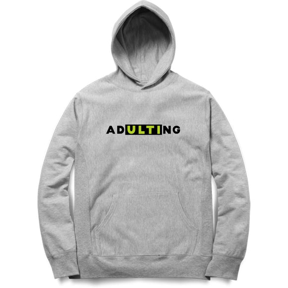 ADultiNG Hoodie (Black Text) - Unisex - Madras Merch Market