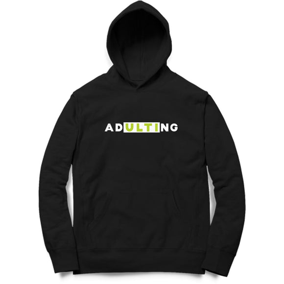ADultiNG Hoodie (White Text) - Unisex - Madras Merch Market
