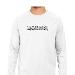 Nandri Full Sleeve T-shirt (White Text) - Unisex - Madras Merch Market