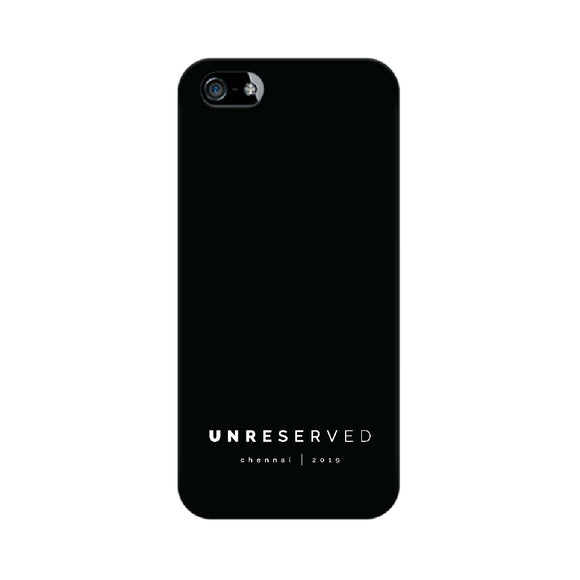 UNRESERVED Phone Cover (White Text) (Apple, Samsung, Vivo and OnePlus) - Madras Merch Market