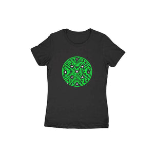 Millennial Maze T-shirt (Green Text) - Women - Madras Merch Market