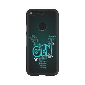 Gen Y Starter Pack Phone Cover (Blue Text) (Google Pixel, Oppo, Sony Xperia, Nokia, Huawei Honor, Moto and Xiaomi Redmi) - Madras Merch Market