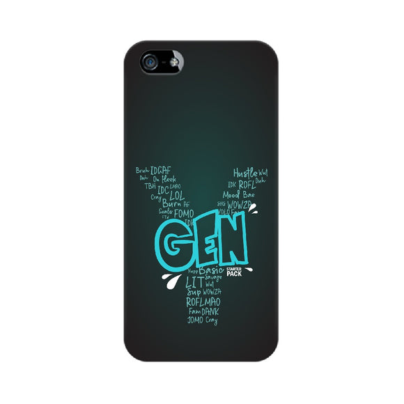 Gen Y Starter Pack Phone Cover (Blue Text) (Apple, Samsung, Vivo and OnePlus) - Madras Merch Market