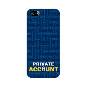 Private Account Phone Cover (Apple, Samsung, Vivo and OnePlus) - Madras Merch Market