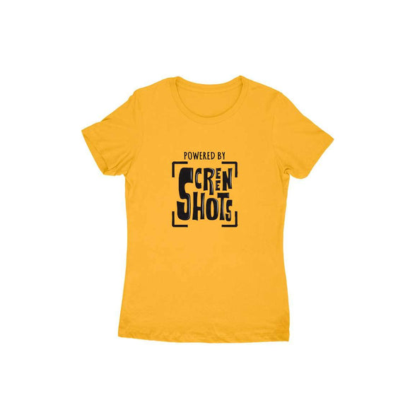 Powered By Screenshots T-shirt (Black Text) - Women - Madras Merch Market