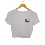 IDK-IDC-IDGAF Crop Top (Black Text) - Women - Madras Merch Market