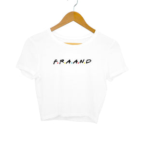 F.R.A.A.N.D (Black Text) Crop Top - Women - Madras Merch Market