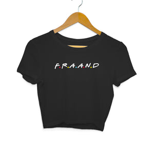 F.A.M.I.L.Y (White Text) Crop Top - Women - Madras Merch Market