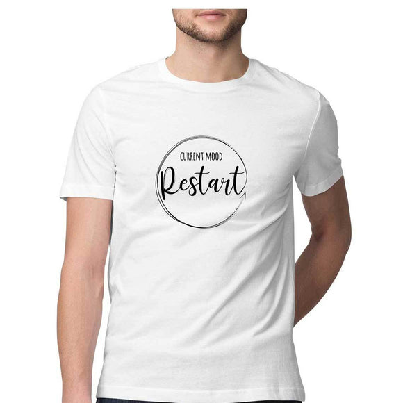 Current Mood - Restart T-shirt (Black Text) - Unisex - Madras Merch Market