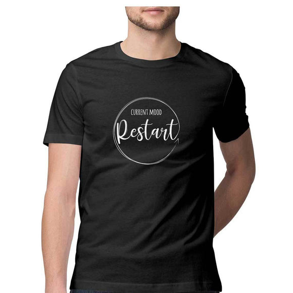 Current Mood - Restart T-shirt (White Text) - Unisex - Madras Merch Market