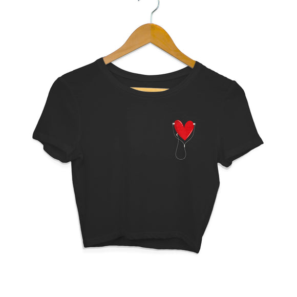 Listen to your heart Crop Top - Women - Madras Merch Market