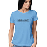 Meme-a-holic (Black Text) T-shirt - Women - Madras Merch Market