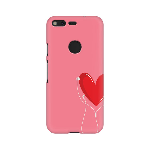 Listen to your heart Phone Cover (Pink) (Google Pixel, Oppo, Sony Xperia, Nokia, Huawei Honor, Moto and Xiaomi Redmi) - Madras Merch Market
