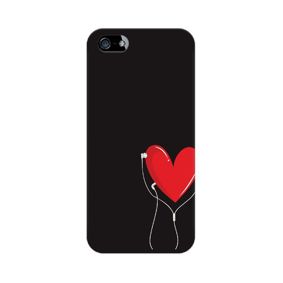 Listen to your heart Phone Cover (Black) (Apple, Samsung, Vivo and OnePlus) - Madras Merch Market