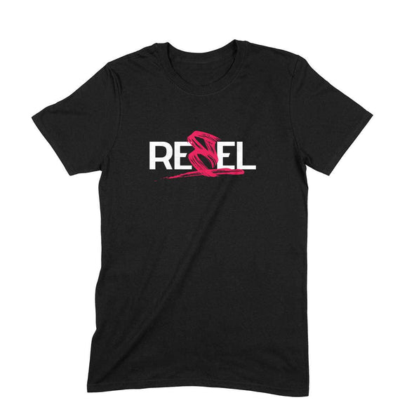 Rebel T-shirt (White Text) - Unisex - Madras Merch Market