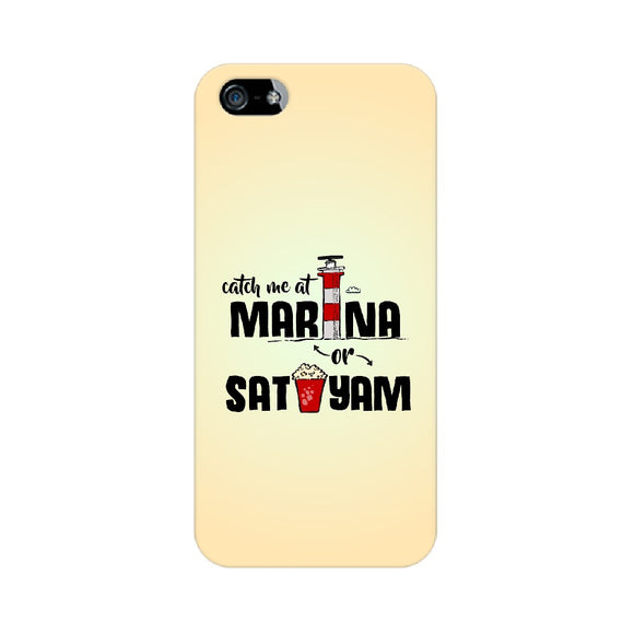 Marina and Sathyam Phone Cover (Apple, Samsung, Vivo and OnePlus)