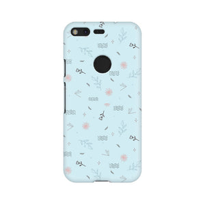 Flower Pattern Phone Cover (Blue) (Google Pixel, Oppo, Sony Xperia, Nokia, Huawei Honor, Moto and Xiaomi Redmi) - Madras Merch Market