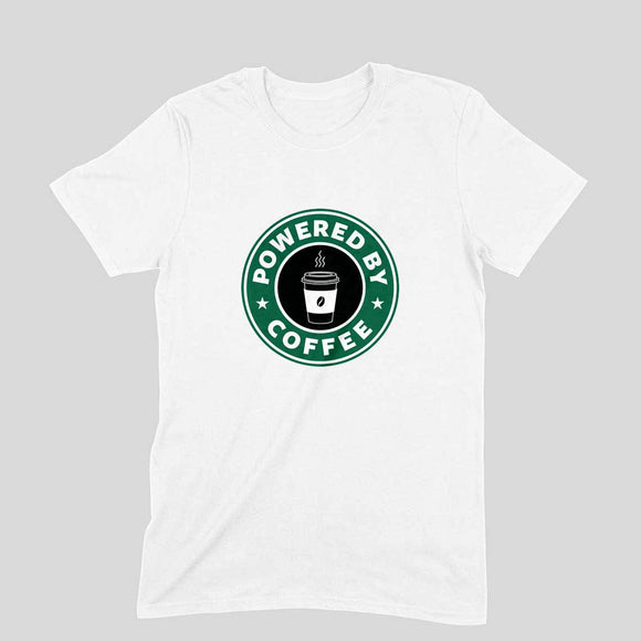 Powered By Coffee T-shirt - Unisex - Madras Merch Market