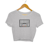 Retro Transistor Crop Top - Women - Madras Merch Market