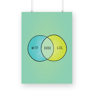 Twenty-twenty in a nutshell Poster - Madras Merch Market