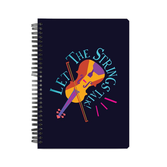 Let the Strings Talk Colour-pop Notebook - Madras Merch Market