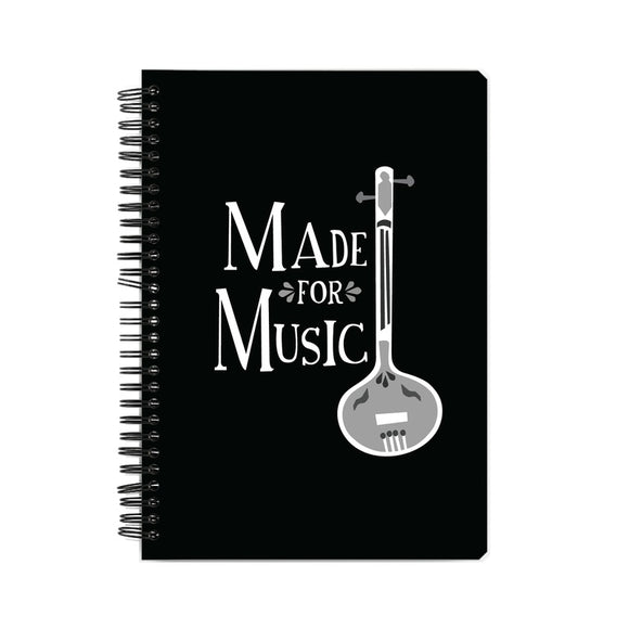Made for Music Black and White Notebook - Madras Merch Market
