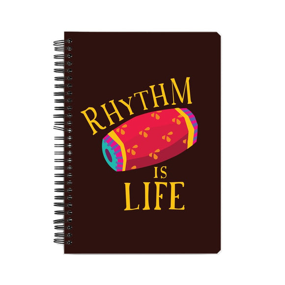 Rhythm is Life colour-pop Notebook - Madras Merch Market