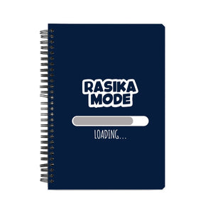 Rasika Mode Loading Notebook (White Text) - Madras Merch Market