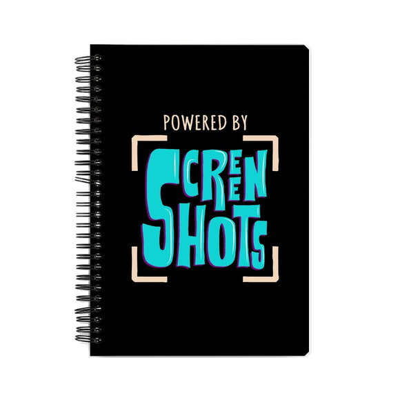 Powered By Screenshots Notebook - Madras Merch Market
