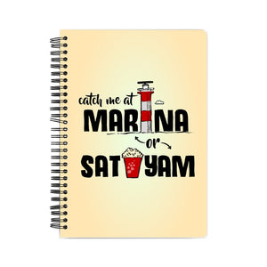 Marina and Sathyam Notebook - Madras Merch Market