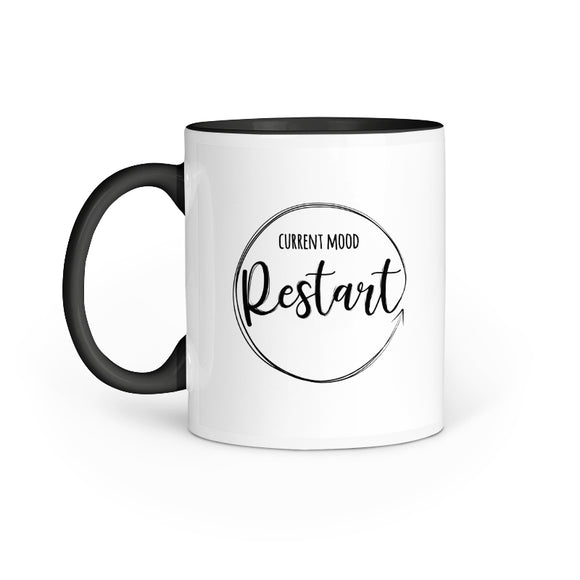 Current Mood Restart Mug - Madras Merch Market