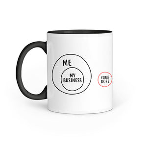Not your business Mug - Madras Merch Market