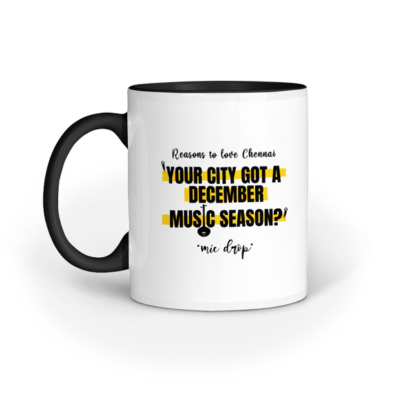 Chennai Music Season Mug - Madras Merch Market