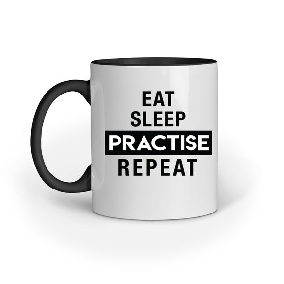 Eat Sleep Practise Repeat Mug - Madras Merch Market
