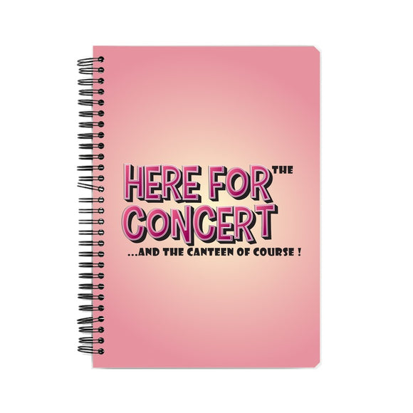 Here For The Concert Notebook - Madras Merch Market