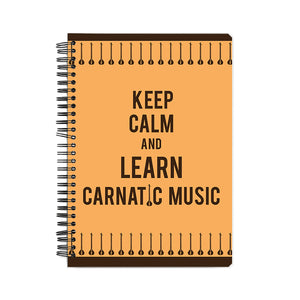 Keep Calm And Learn Carnatic Music Notebook - Madras Merch Market
