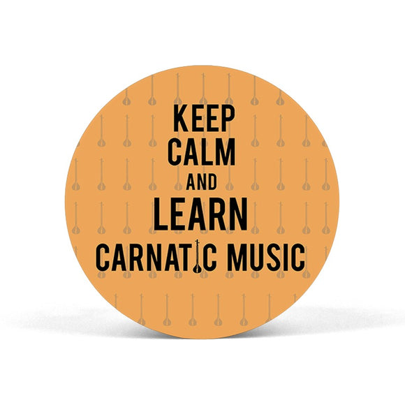 Keep Calm And Learn Carnatic Music Popgrip - Madras Merch Market