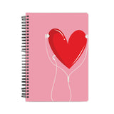 Listen to your heart Notebook - Madras Merch Market