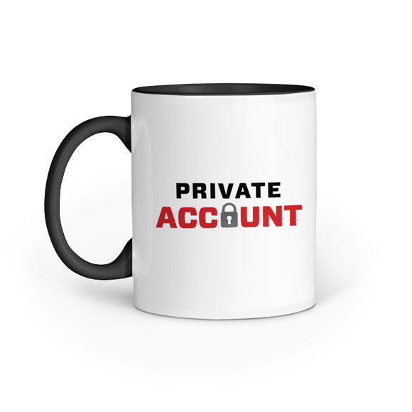 Private Account Mug - Madras Merch Market
