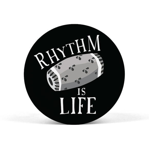 Rhythm is Life Black and White Popgrip - Madras Merch Market
