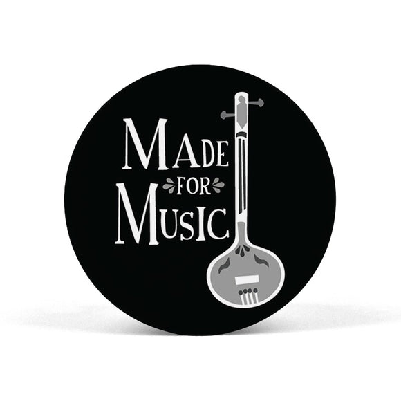 Made for Music Black and White Popgrip - Madras Merch Market