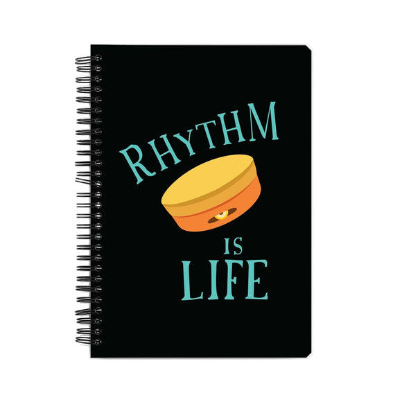 Rhythm is Life (Kanjira) Notebook - Madras Merch Market
