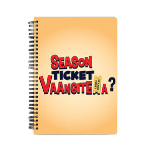 Season Ticket Vaangitela Notebook - Madras Merch Market