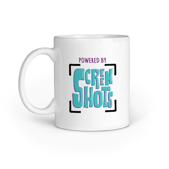Powered By Screenshots Mug - Madras Merch Market